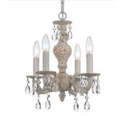 antique shabby chic mini chandelier with 4 lights home