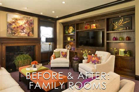vibrant transitional family room before and after san vibrant transitional family room before and after san