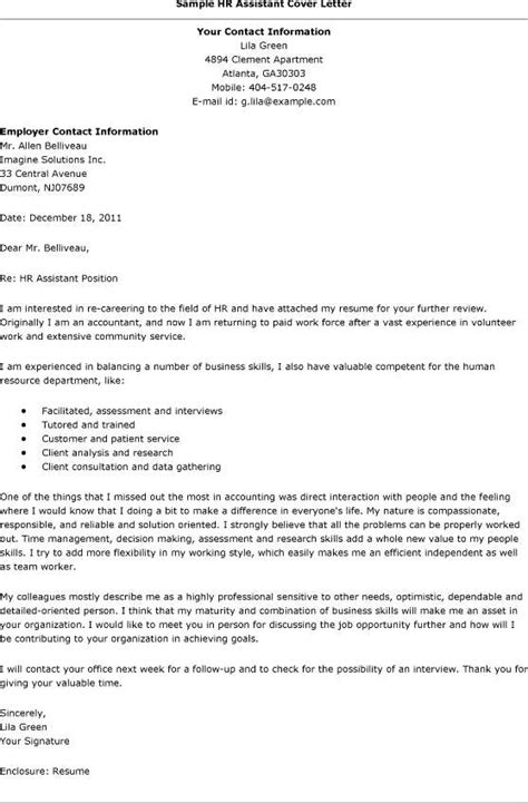 resume cover letter for hr generalist position 28 images