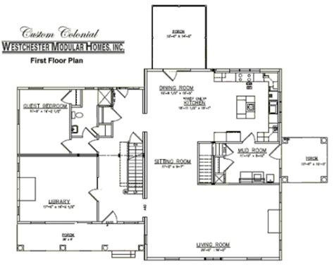 colonial floor plan custom colonial 3 by westchester modular homes two story