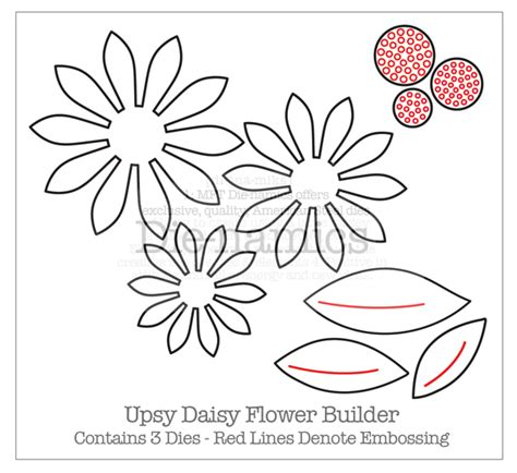 Flower Die Cut Template march 2011 paper cuts