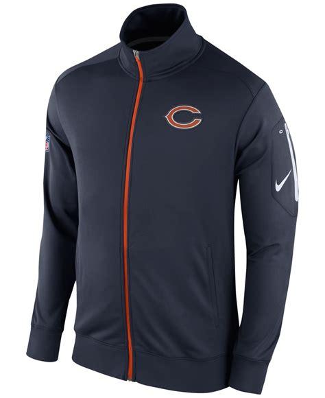 Nike Hoody Jaket Nike Wanita Jaket Nike Pria Jaket Nike Ori lyst nike chicago bears nfl s empower jacket in blue for
