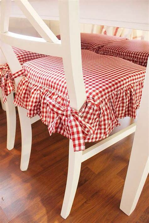 gingham armchair pretty red and white gingham check kitchen chair cushions