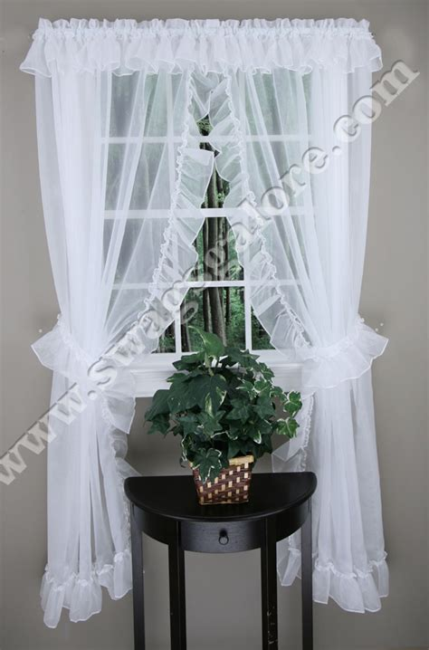ruffled priscilla curtains jessica ruffled priscilla curtains style 2830 100 quot w x
