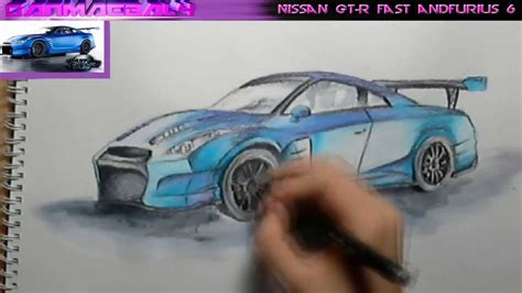 nissan skyline fast and furious 6 nissan gt r fast and furious 6 speed drawing youtube