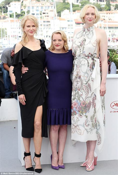 gwendoline christie miranda elisabeth moss and gwendoline christie at london screening