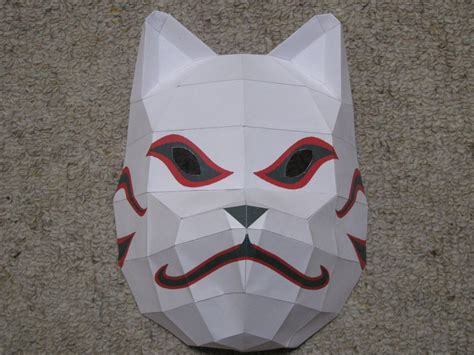 Anbu Mask Papercraft - anbu mask papercraft by shinigamichick39 on deviantart
