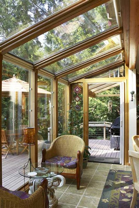 Wooden Sun Room How To Maximize Space In Your Timber Home Plan