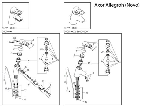 Hansgrohe Shower Parts by Hansgrohe Axor Allegroh Tap Spares Shower Spares And Parts