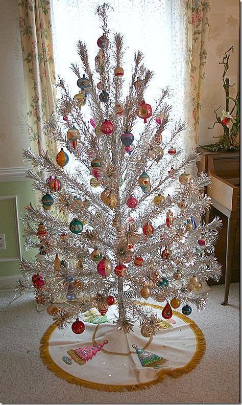 vintage tinsel christmas tree the stockings were hung by
