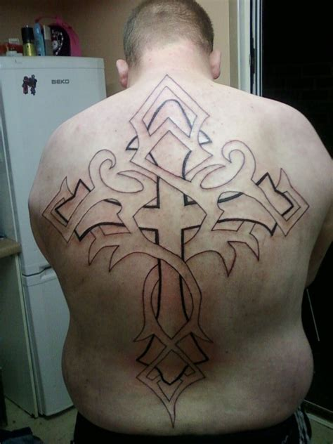 full back cross tattoos back cross by mwilliams88 on deviantart