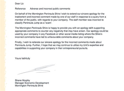 Apology Letter Misunderstanding sle apology letter to customer for misunderstanding