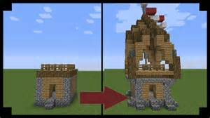 how to update your house minecraft how to upgrade a village hut youtube
