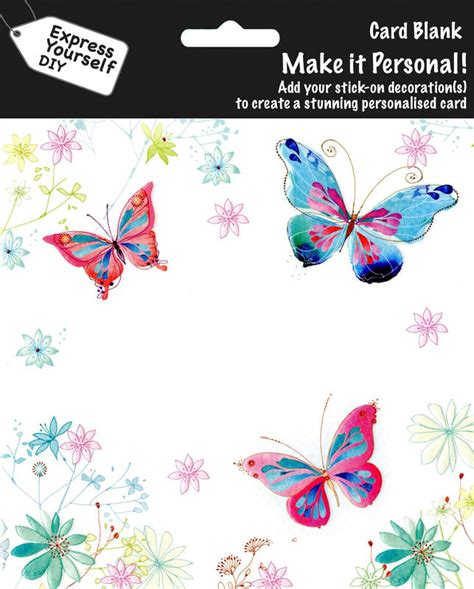 make personal cards make it personal blank card butterflies flowers