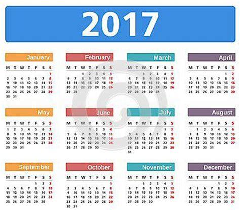 Calendario 2018 Italiano Con Festività Calendario Festivit 224 2017