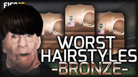 players with unique hair styles in fifa 15 fifa 15 worst hair styles bronze players youtube