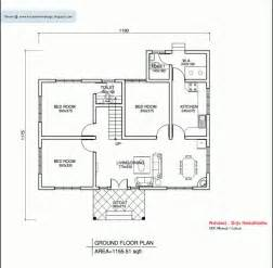 Square House Floor Plans by Kerala Style Single Floor House Plan 1155 Sq Ft