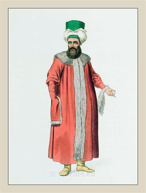 ottoman costume ottoman man in a fur coat ottoman empire historical
