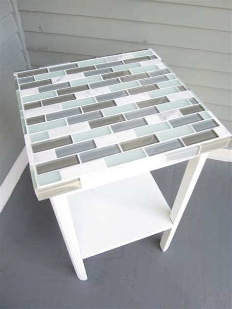 Diy Kitchen Table Top How To Tile A Small Table Top