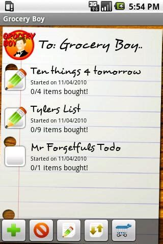 grocery list app android grocery boy grocery list android apps on play