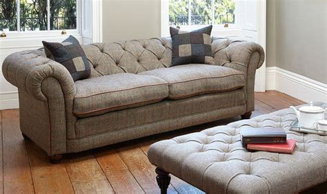 Tweed Chesterfield Sofa Orkney Chesterfield Sofa In Harris Tweed High Quality Crafted Leather Sofas Darlings Of