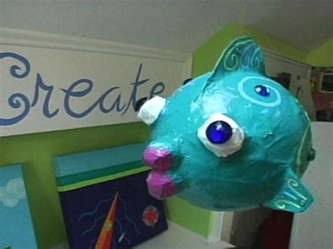 How To Make Paper Mache Fish - how to make a papier mache fish hgtv