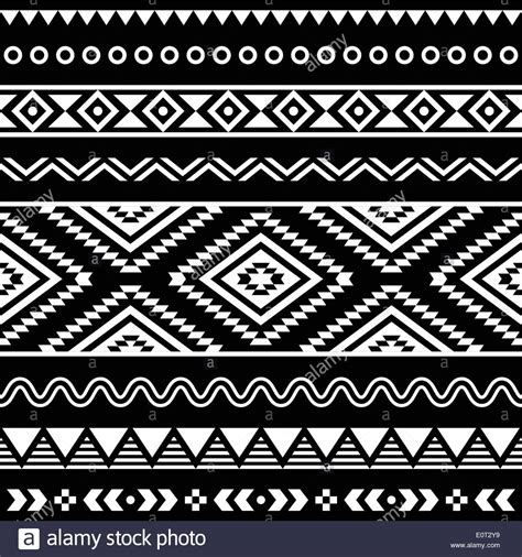 aztec pattern ai tribal seamless aztec white pattern on black background