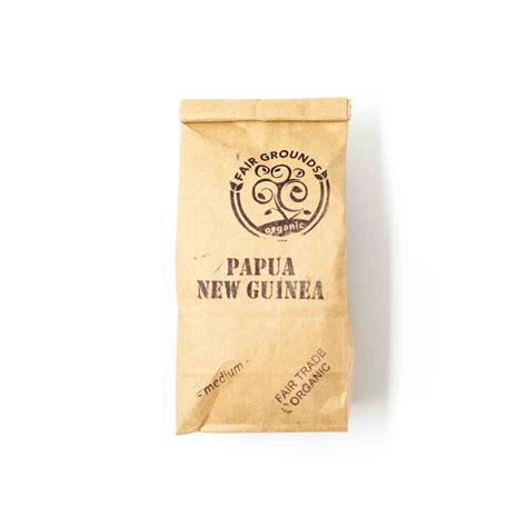 Roasted organic, fair trade coffee   Papua New Guinea