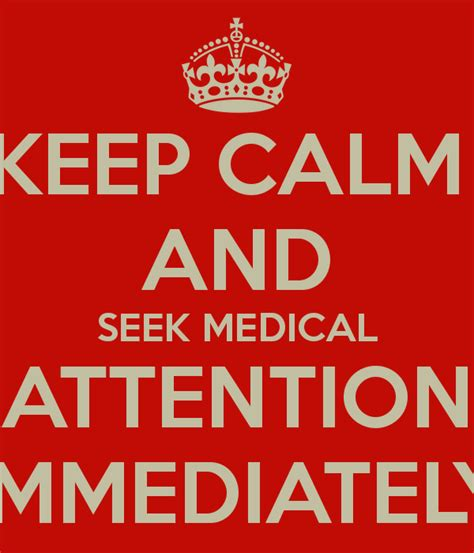 Childrens Wall Stickers Uk keep calm and seek medical attention immediately keep