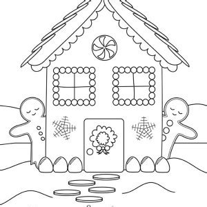 christmas coloring pages gingerbread house by sarah