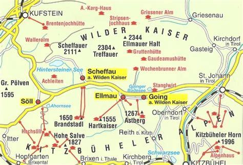 Motorradtouren Wilder Kaiser by Landkarte Wilder Kaiser Hanzeontwerpfabriek