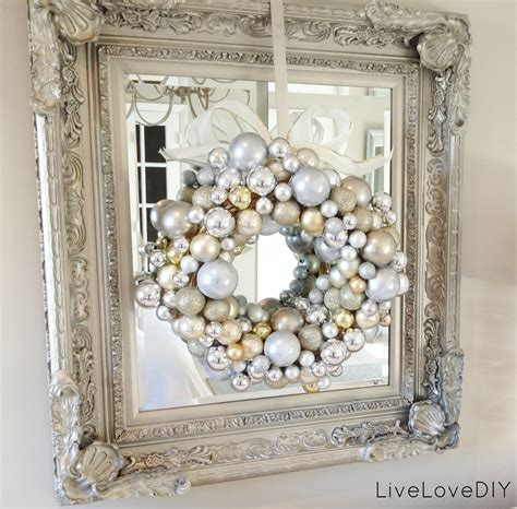 mirror decorations livelovediy how to make a christmas ornament wreath