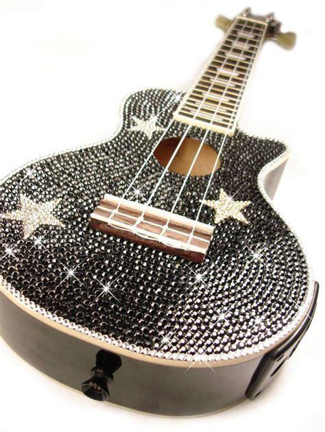 One Gig Of Glitter From Philips And Swarovski by Swarovski Studded Uke Crystals Ukulele Plays Guitar