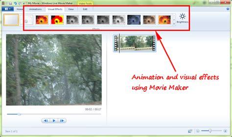 windows live movie maker tutorial visual effects visual effects for windows live movie maker