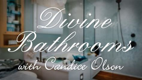 divine bathrooms with candice olson hgtv