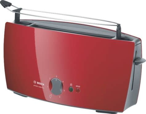 tostadora bosch roja bosch tostador private collection 1 ranura larga