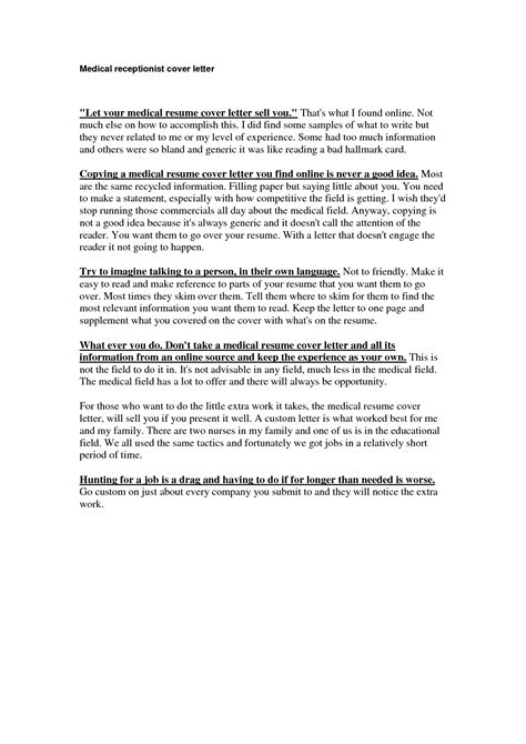 Sle Cover Letter For Receptionist by Cover Letter Field Best Cover Letter Exles Livecareer Media Entertainment
