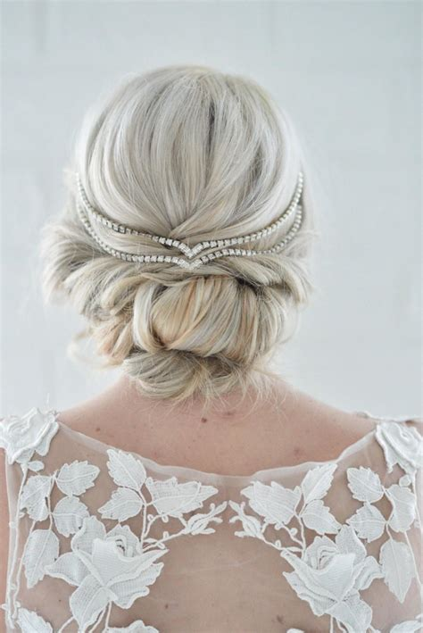 Wedding Hair Up With Headband by Hair Jewelry Simple Wedding Chain Unique Bridal
