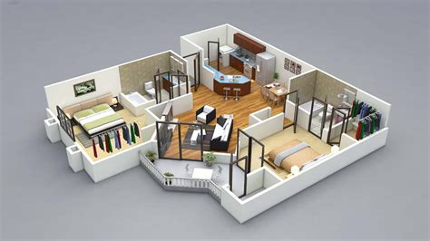 13 Awesome 3d House Plan Ideas That Give A Stylish New | 13 awesome 3d house plan ideas that give a stylish new