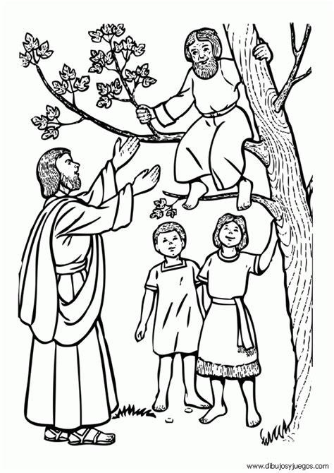 dibujos cristianos para imprimir y colorear free historia de zaqueo coloring pages