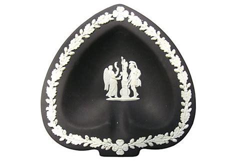 Kings Home Decor by Black Wedgwood Jasperware Spade Dish