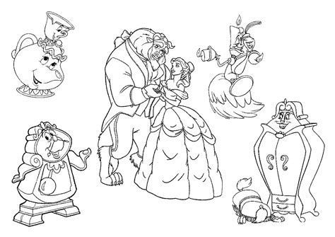Printable Beauty And The Beast Coloring Pages Coloring Me And The Beast Printable Coloring Pages