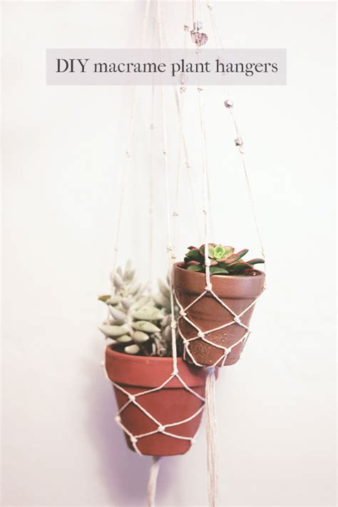 How Do You Make A Macrame Plant Hanger - diy macrame plant hanger macrame hanging