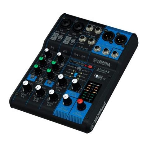Daftar Mixer Yamaha 4 Channel yamaha mg06x 6 channel mixing console