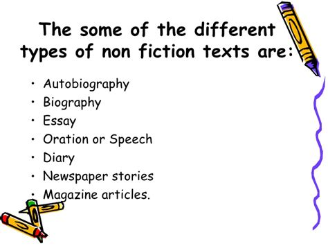 biography text type characteristics of non fiction text