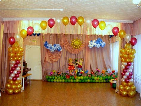 birthday stage decoration at home image inspiration of