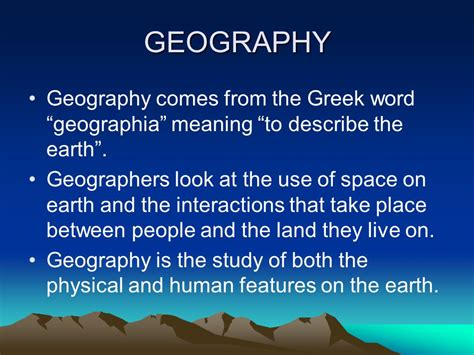 Definition Of Landscape In Geography Introduction To Geography Ppt