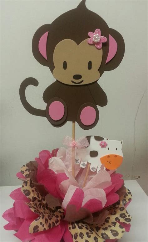 monkey baby shower centerpieces s creations baby shower theme centerpieces