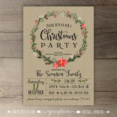 25 best ideas about christmas party invitations on