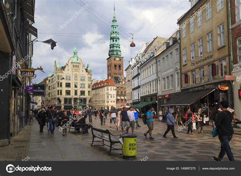Stroget Kopenhagen by The Pedestrian Area Of Stroget Copenhagen Stock